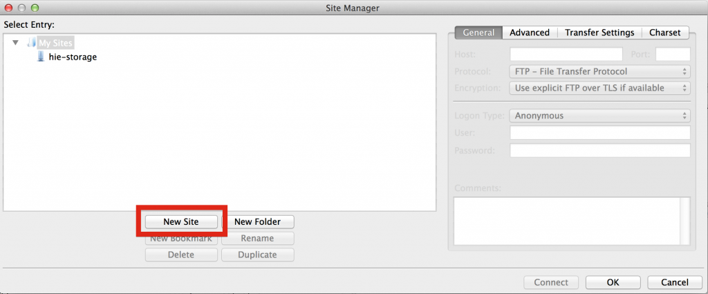Filezilla_SiteManager